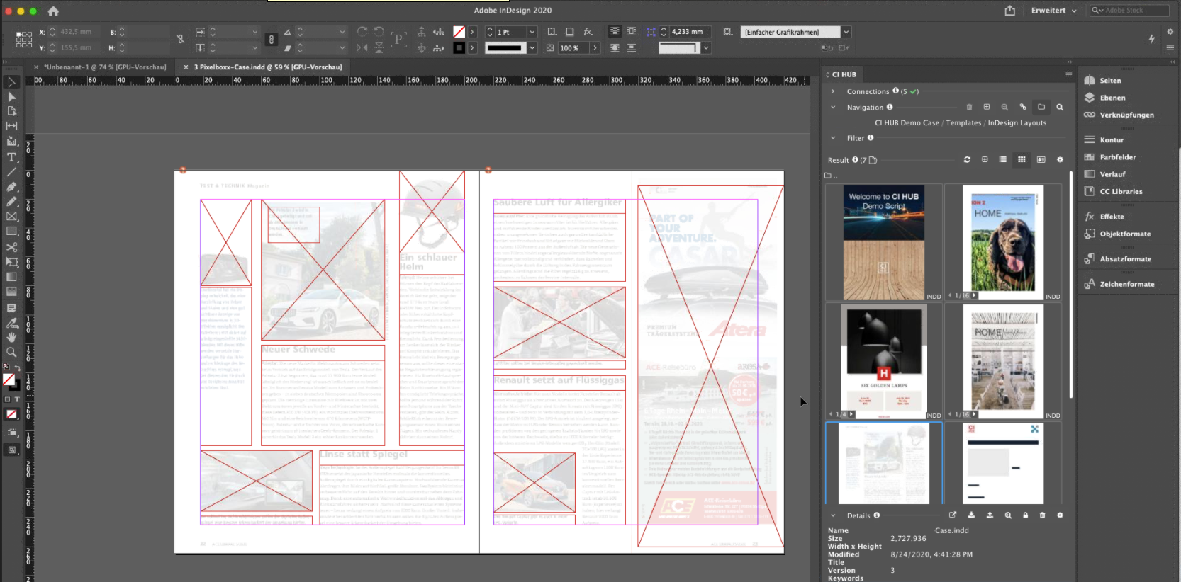 CI HUB InDesign